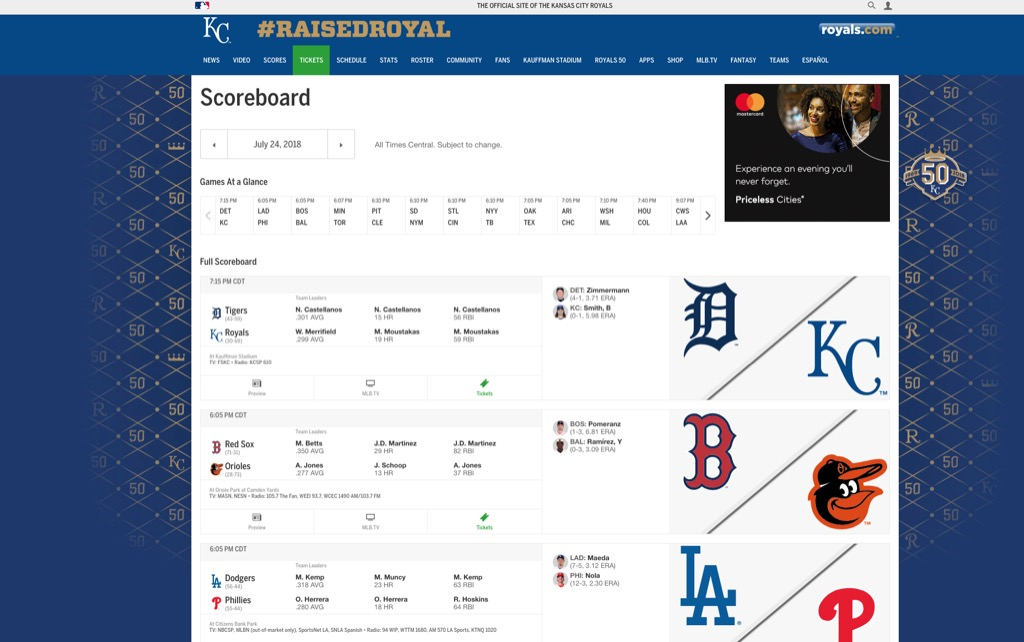 kansas city royals website most popular web search in every state
