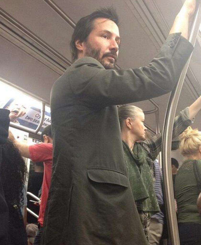Keanu Reeves Celebrities Using Public Transportation