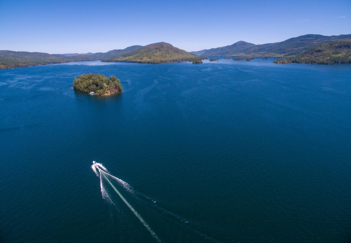 lake george aerial view