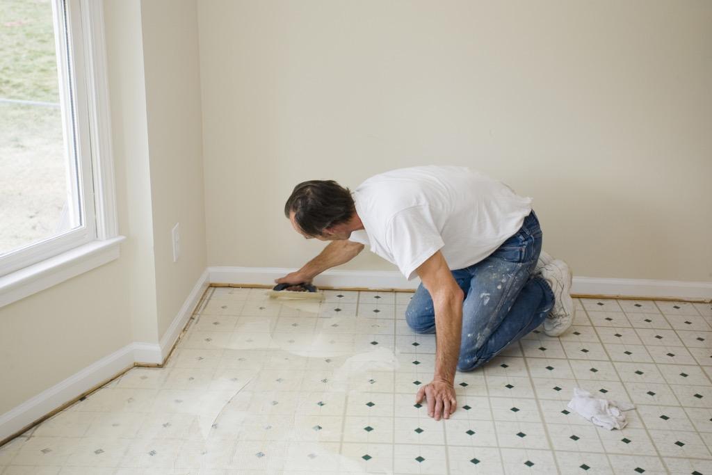 vinyl floor outdated home design