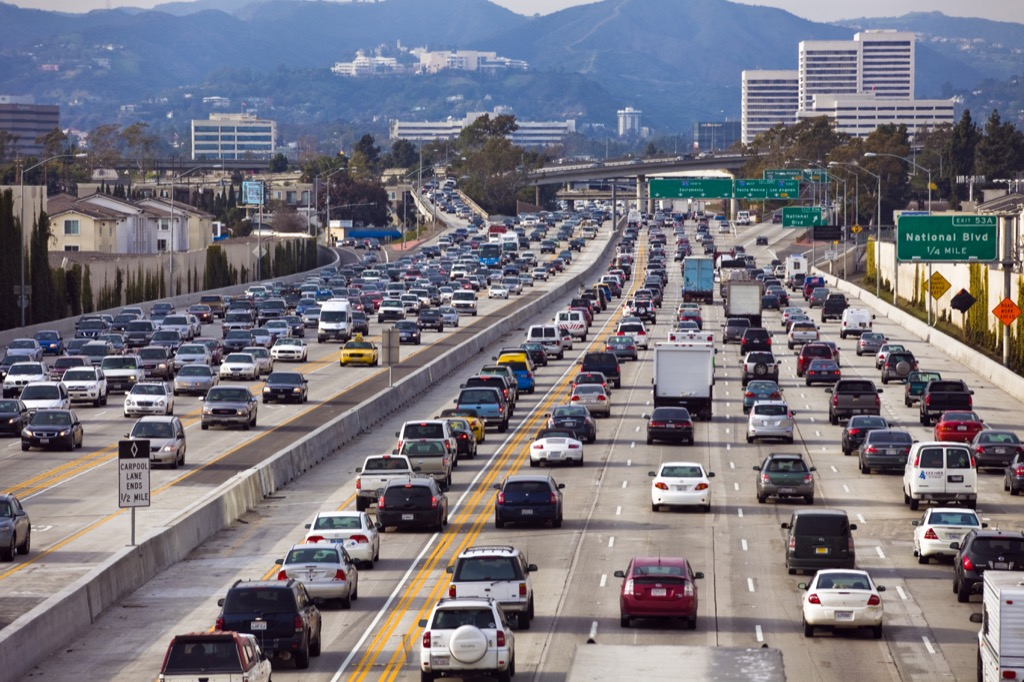 los angeles ca worst cities to drive in