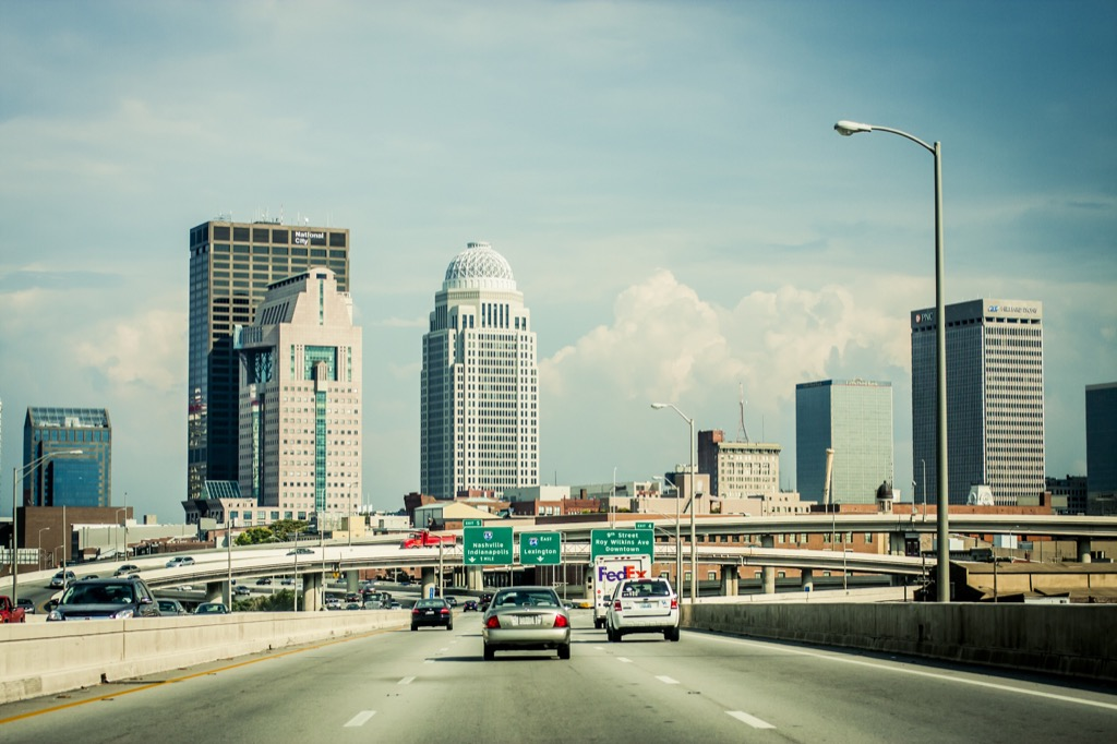 louisville ky worst cities to drive in