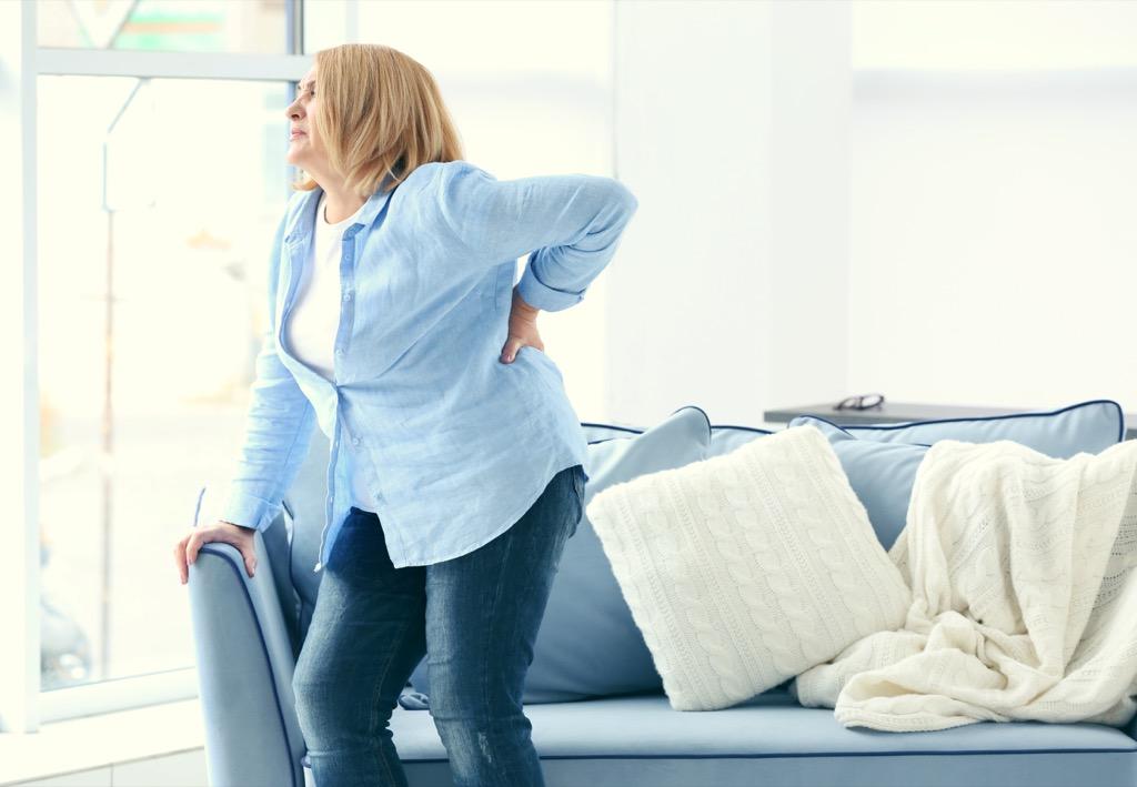 lower back pain, health risks over 40