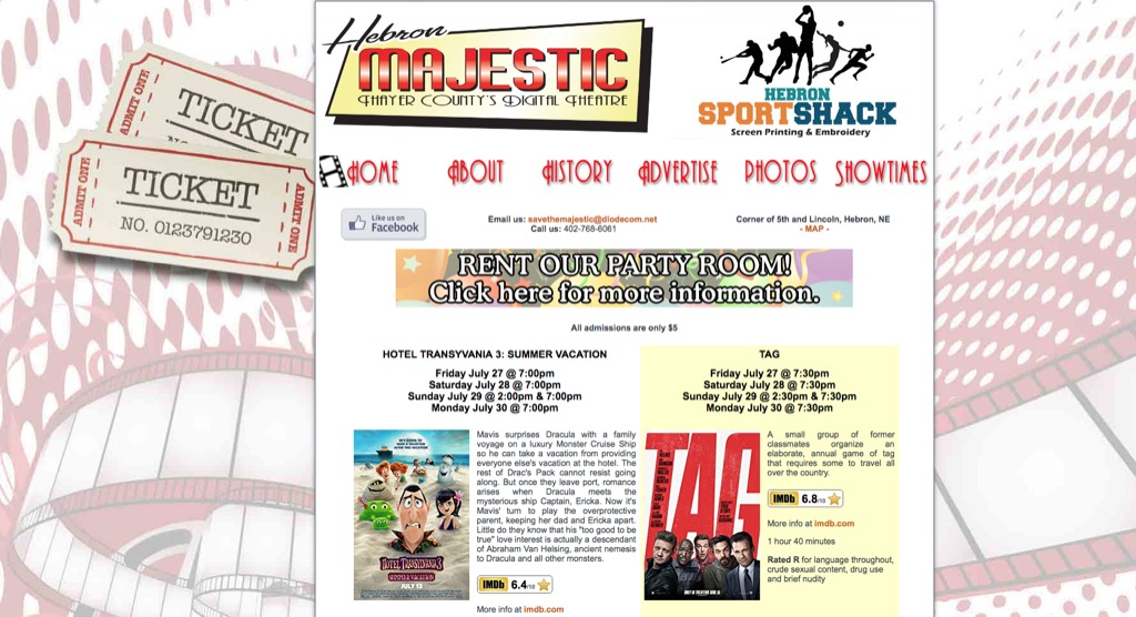 majestic theater website most popular web search in every state