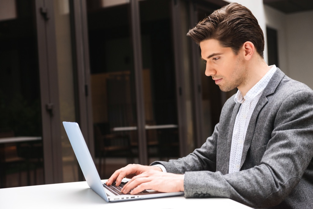 man focusing at the computer Acronyms