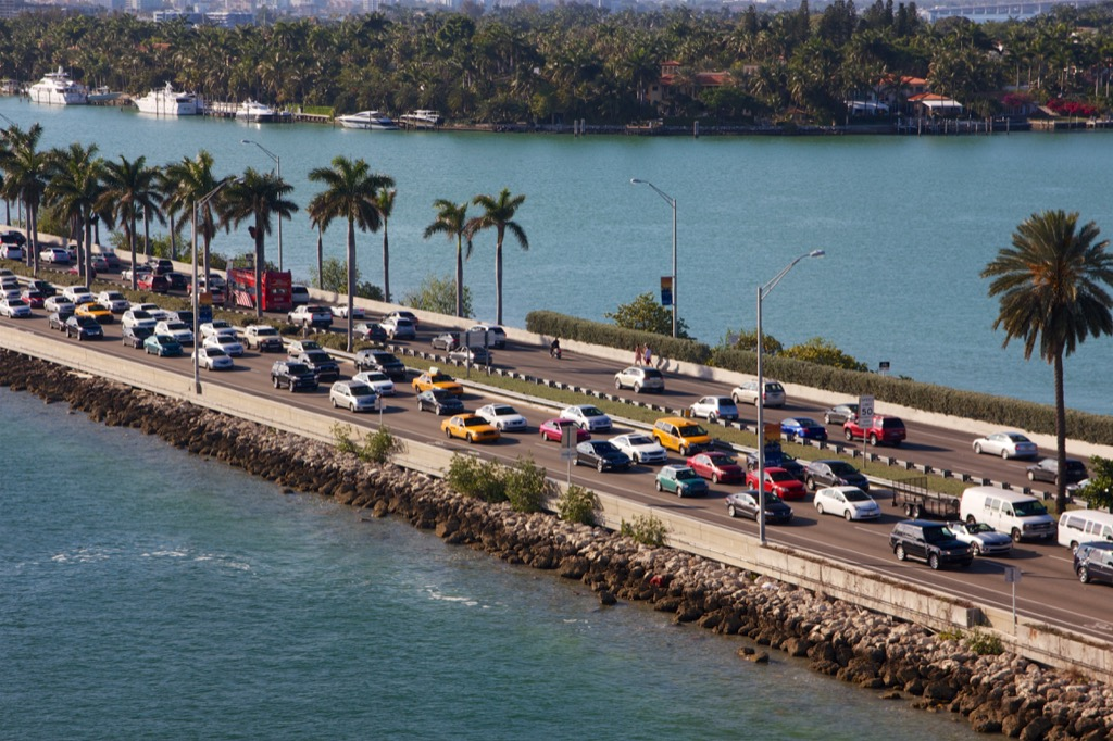 miami fl worst cities to drive in