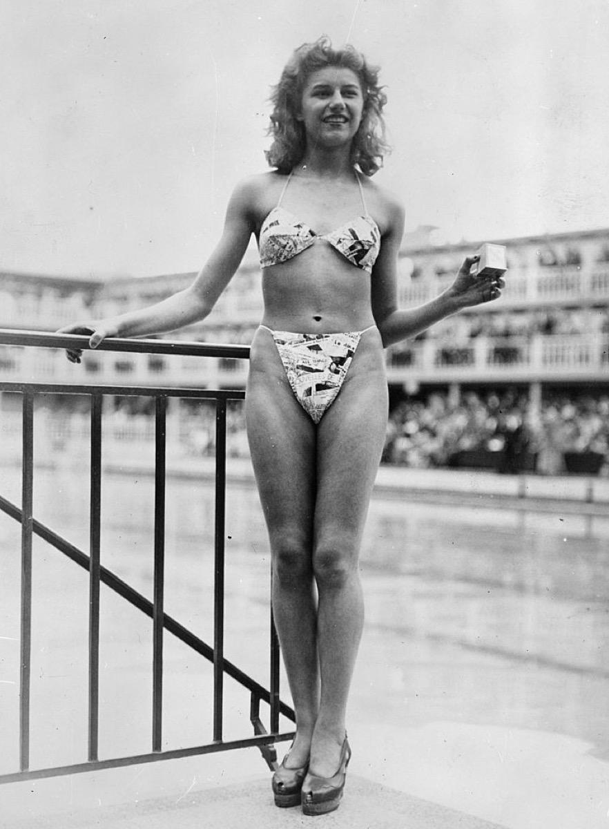 micheline bernardini first bikinis