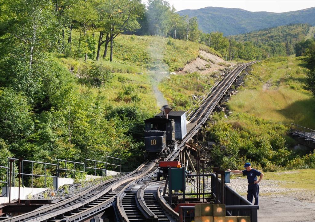 mount washington cog railway most historic location every state