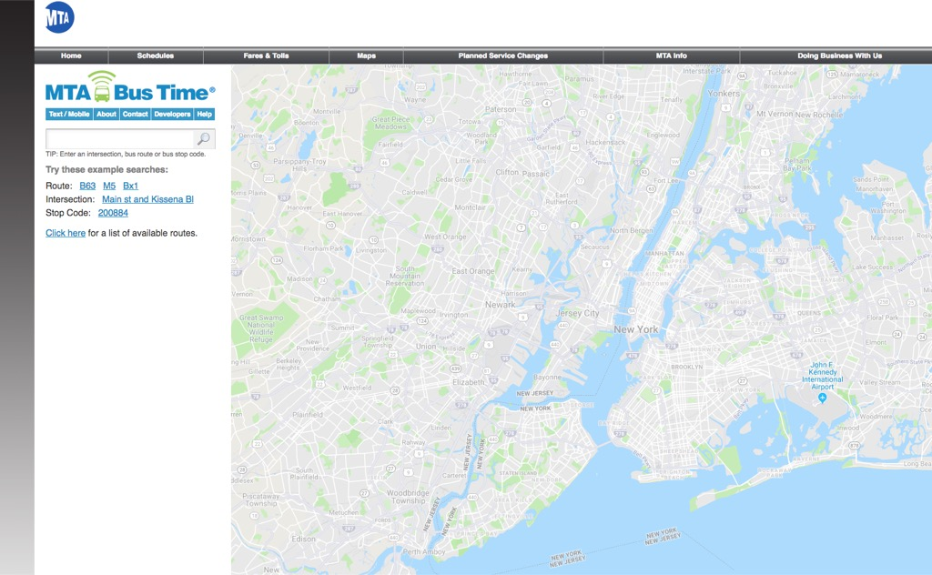mta bus time website most popular web search in every state