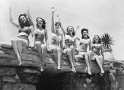 old bikini pictures, first bikini reaction