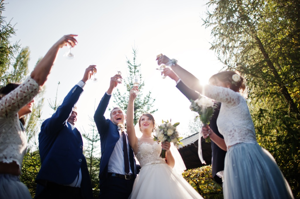 outdoor wedding reception this is the age most people get married in every US state