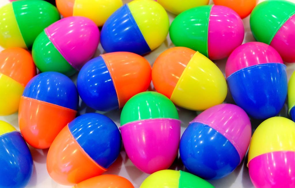 plastic easter egg