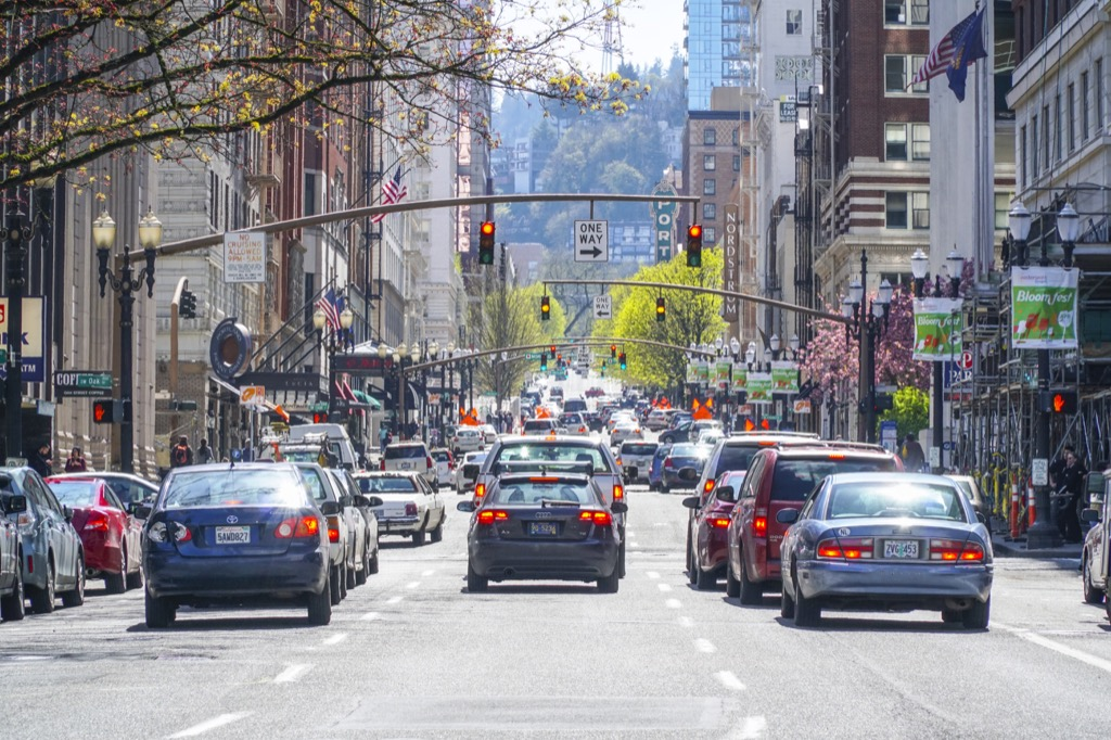 portland or worst cities to drive in