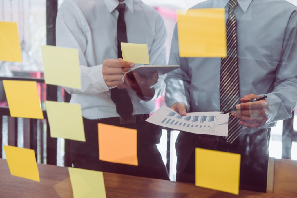 Post-It Notes on office wall most groundbreaking invention in every state