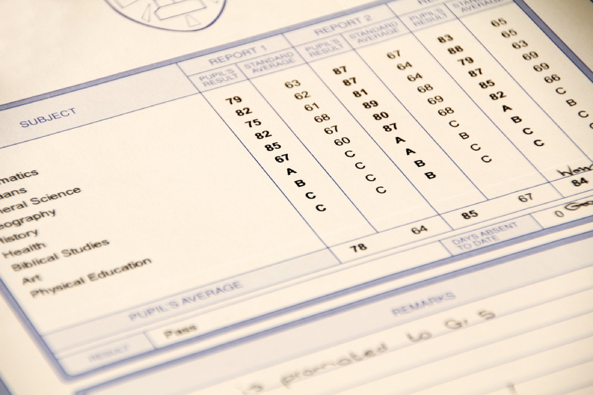 old report card, things you should never say to a teacher