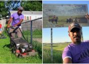 man completes his mission of mowing lawns in all 50 states