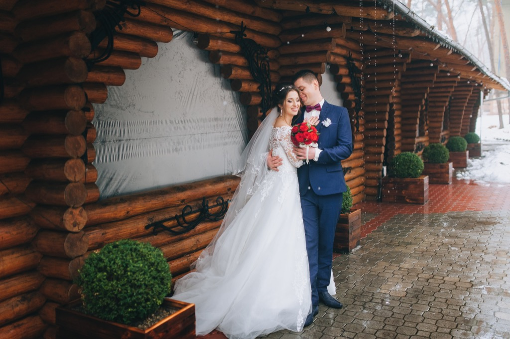rustic wedding photo This Is the Age Most People Get Married in Every U.S. State