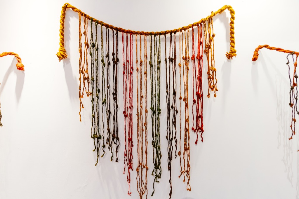Knotted quipu wall art