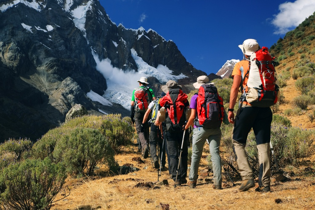 Group of hikers in the Andes