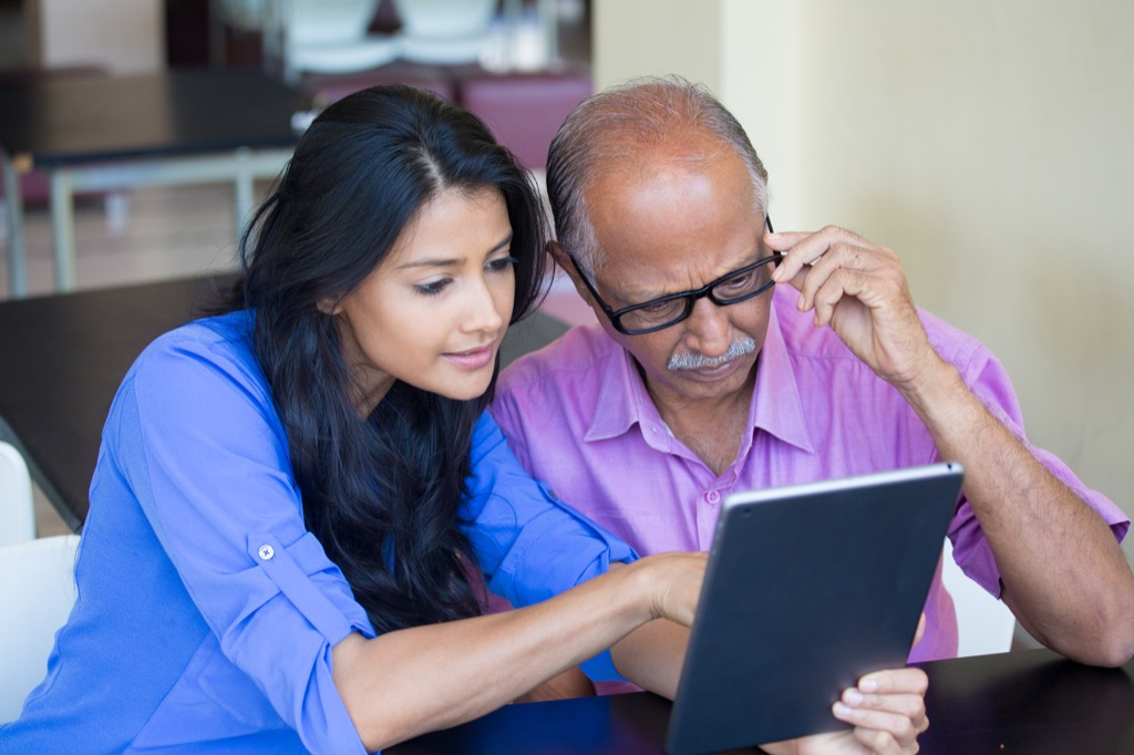 old man using tablet advice you should ignore over 40
