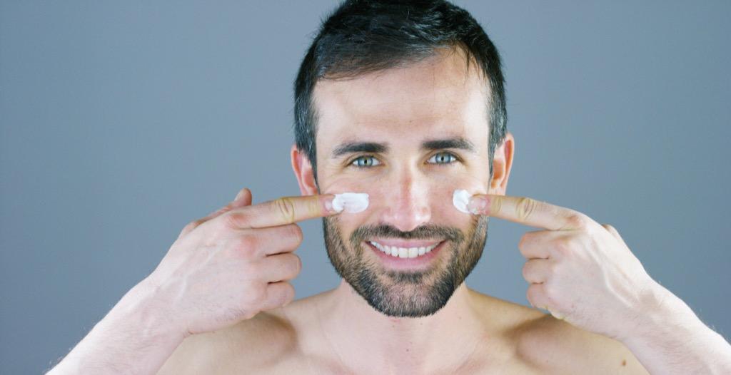 man moisturize