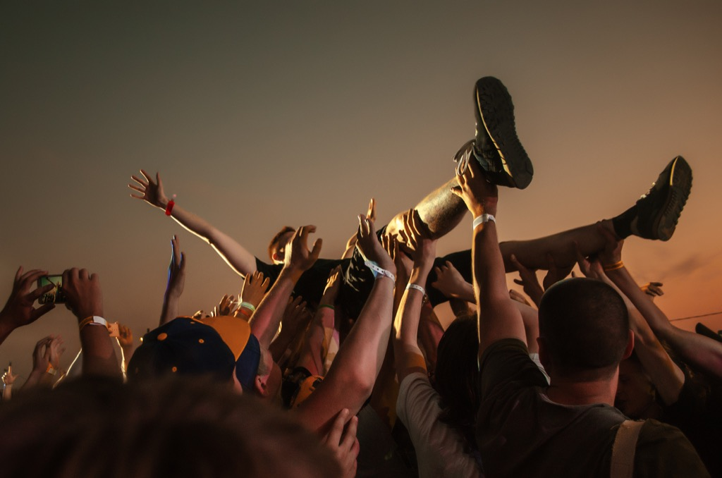 crowd surfing advice you should ignore over 40
