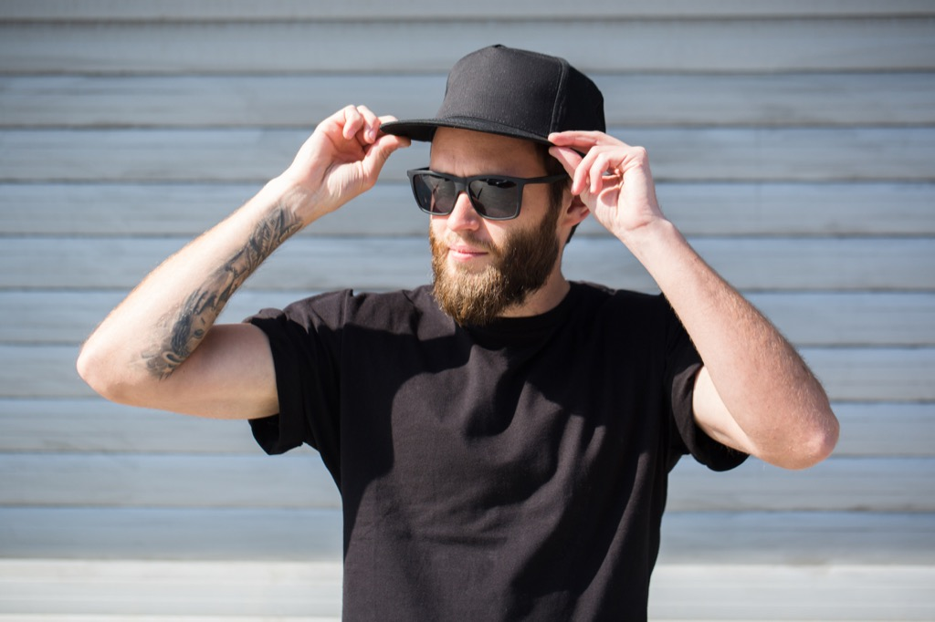 mean wearing snapback hat advice you should ignore over 40