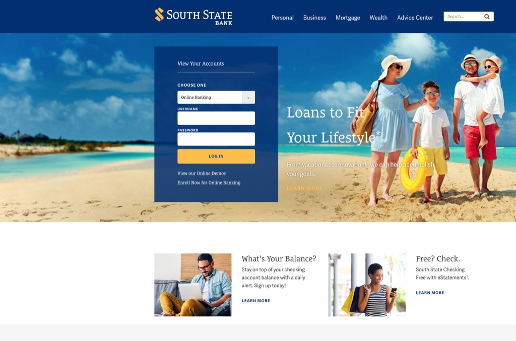 south state bank website most popular web search in every state
