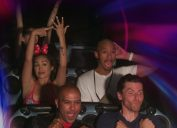Sonni Nicolette posts photo of engagement ring on ride at space mountain in disneyworld.