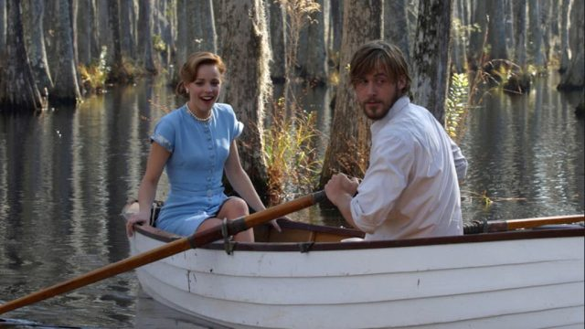 the notebook boat scene signs he's in love