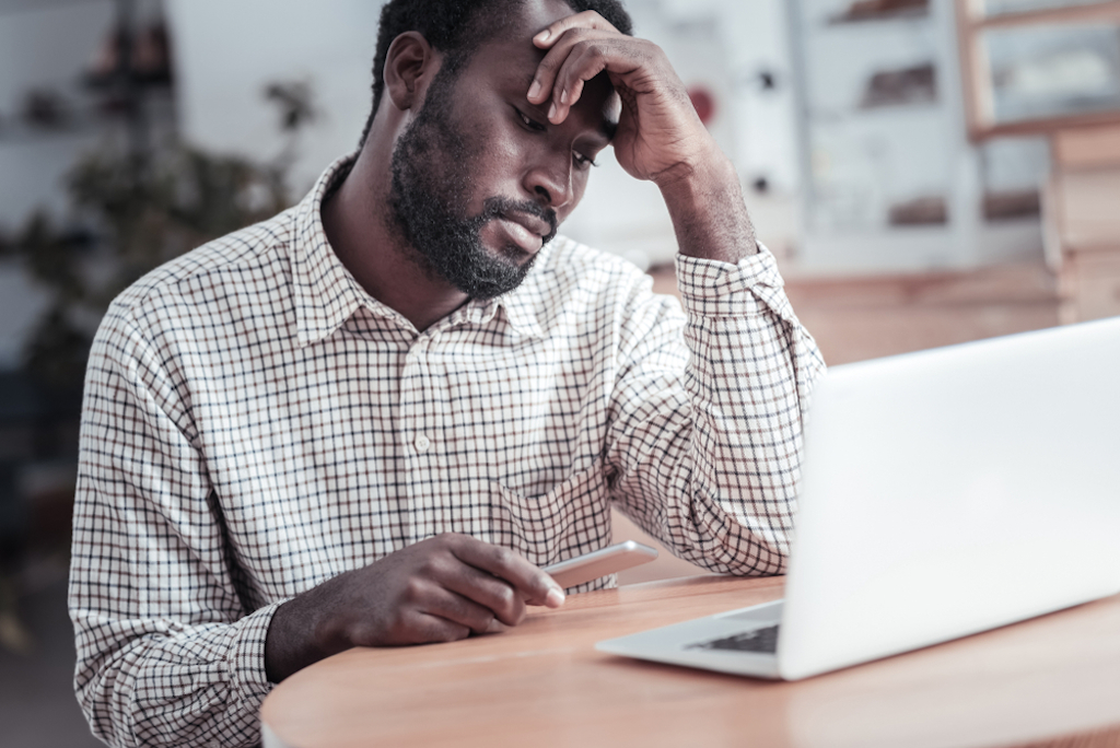 black man at work, misdiagnosed men