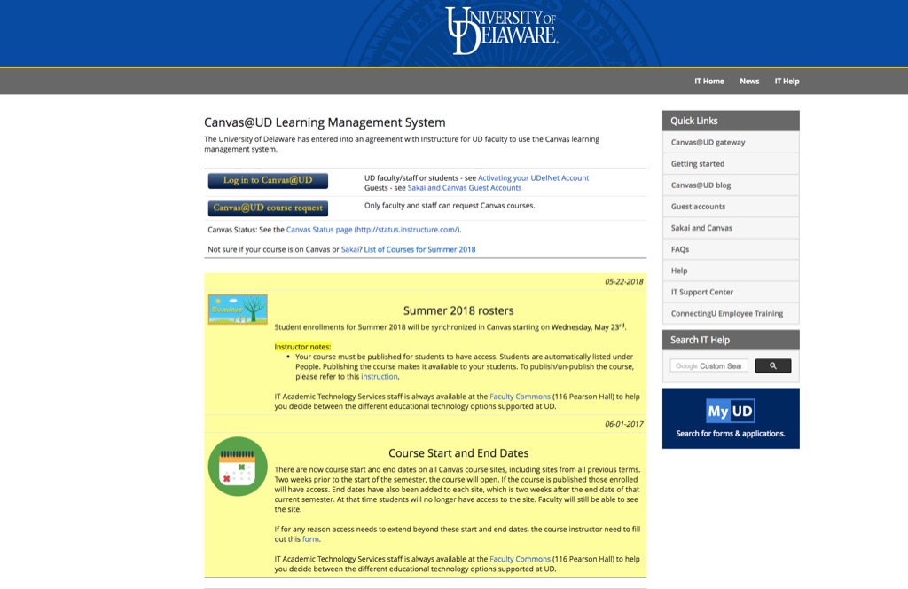 udel canvas most popular web search every state