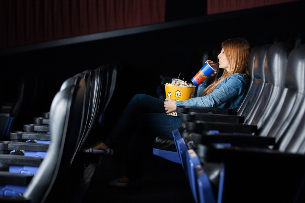 alone at movie theater