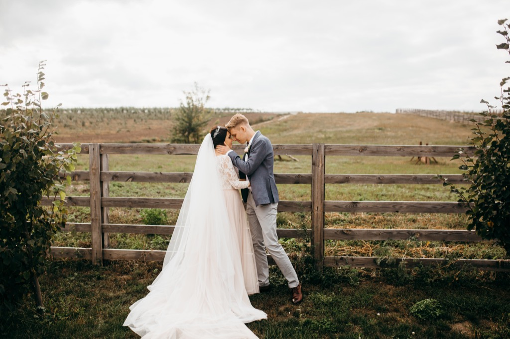 bride and groom at wedding this is the age most people get married in every US state