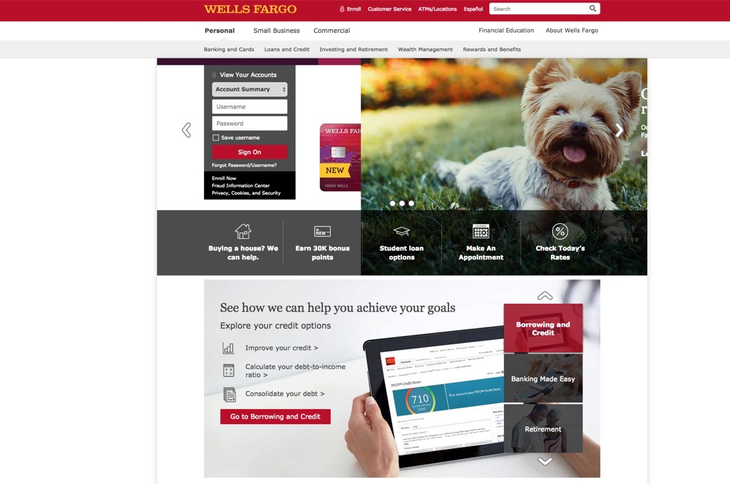 wells fargo most popular web search every state