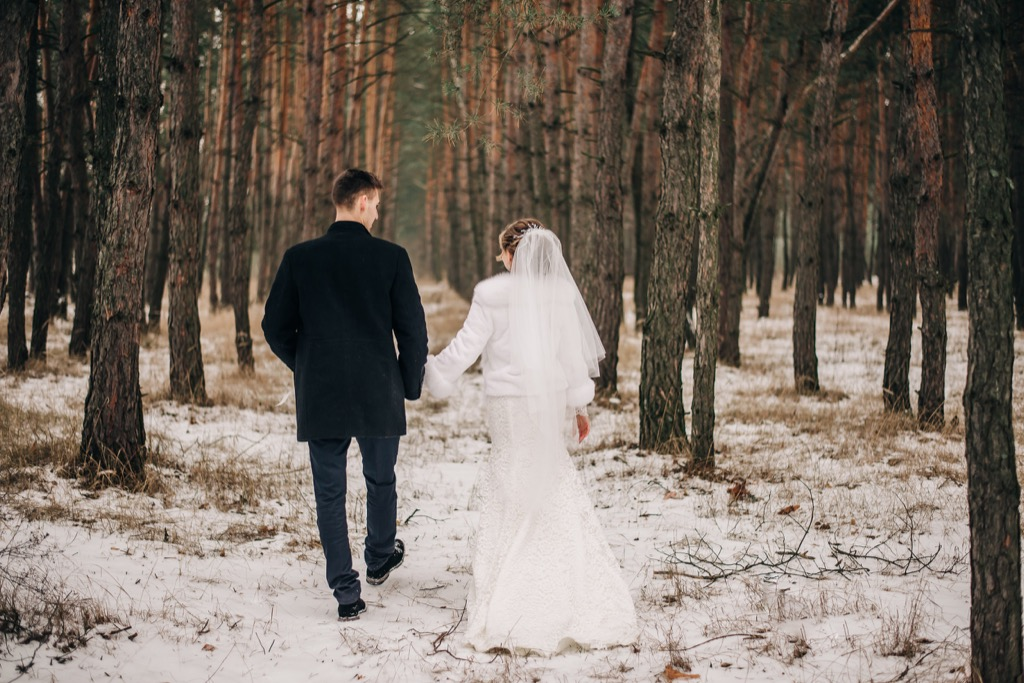 winter wedding 20 Old-Fashioned Wedding Traditions That Nobody Does Anymore