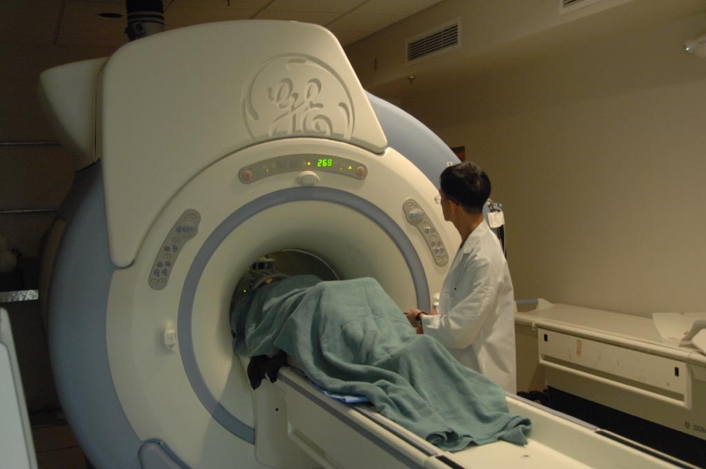 A Patient in an MRI Machine, skin cancer facts