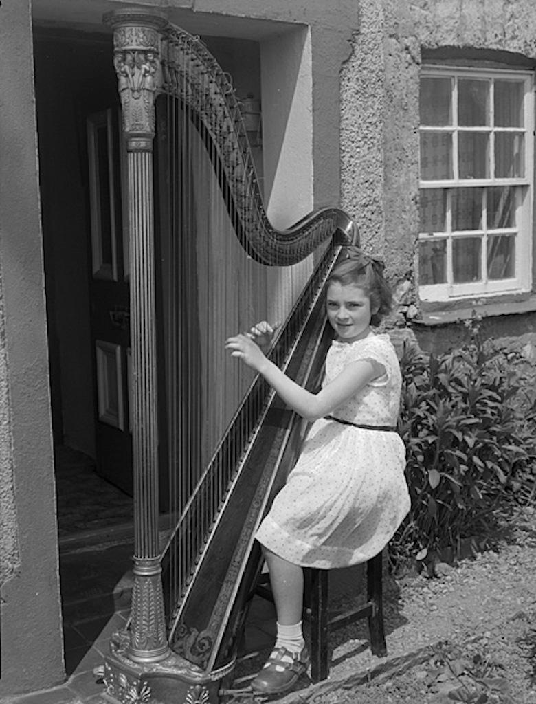 Bobby socks and harp
