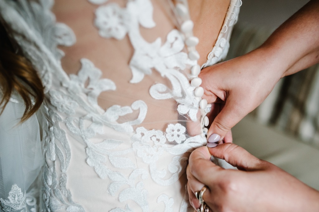 bride getting ready 20 Old-Fashioned Wedding Traditions That Nobody Does Anymore