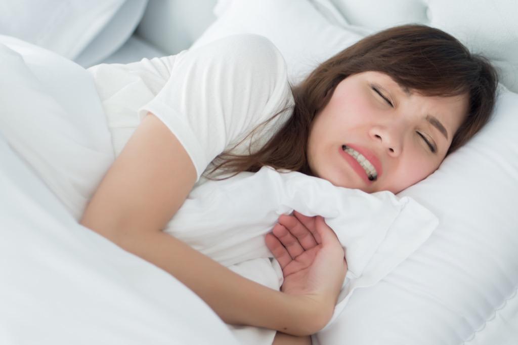 Teeth grinding in sleep bruxism
