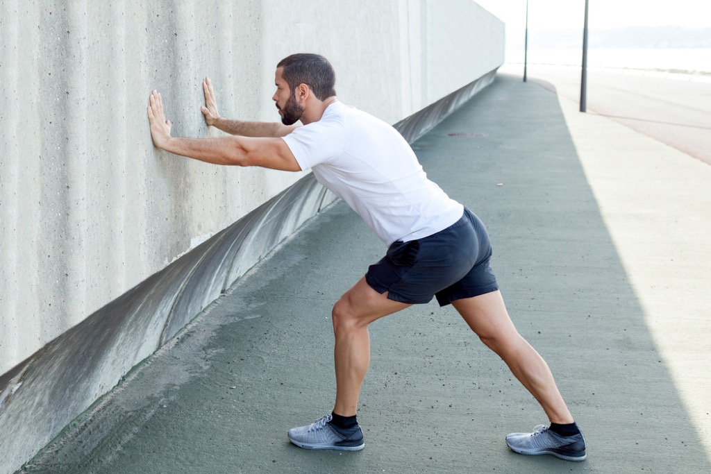 outdoor calf stretch over 40 fitness