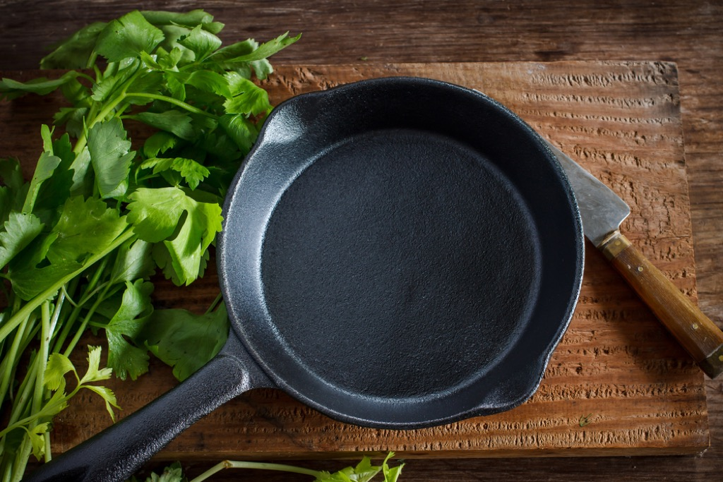 cast iron pan items you're storing wrong