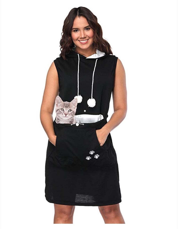 cat pocket dress craziest Amazon products