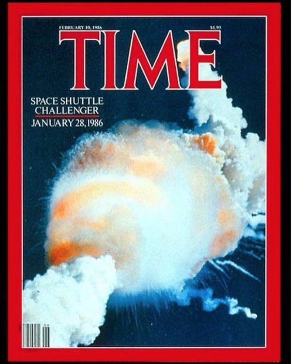 Time Magazine challenger explosion cover