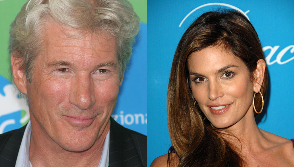 Richard Gere and Cindy Crawford