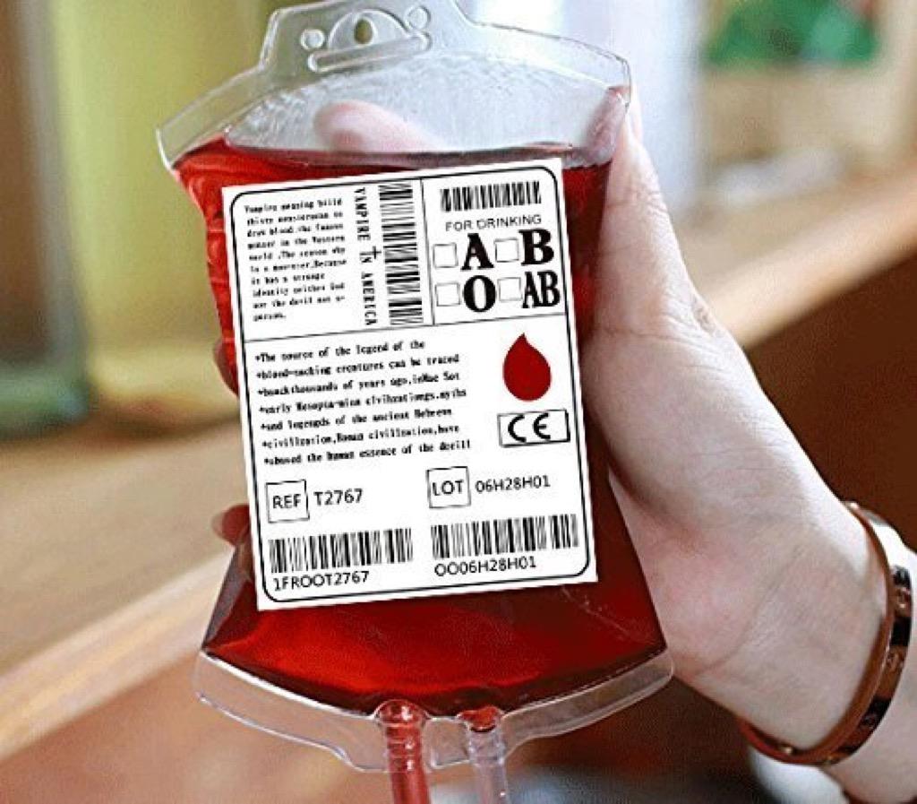 wine blood bag craziest Amazon products