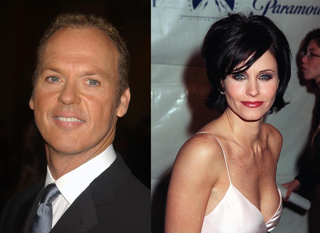 Michael Keaton and Courteney Cox