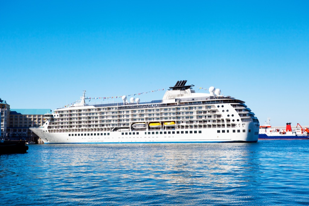 Cruise ship docked in South Africa