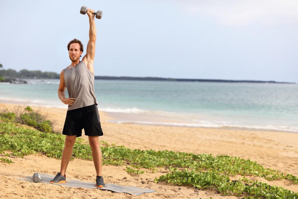 dumbbell raise over 40 fitness