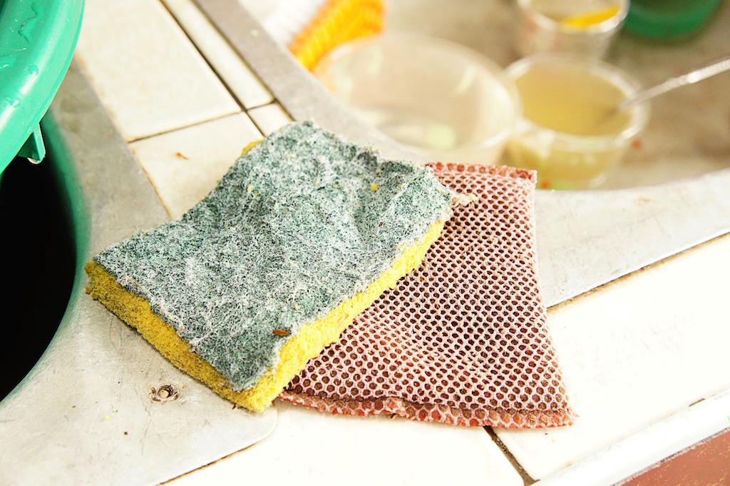 Dirty dish sponge gross everyday habits